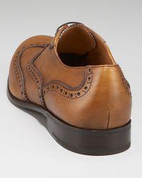 Ferragamo - Brown Belvedere Brogue Oxford for Men - Lyst