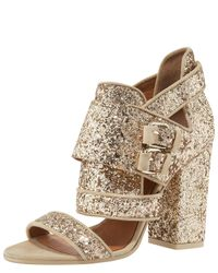 Givenchy | Metallic Armor Glitter–embellished Sandals | Lyst