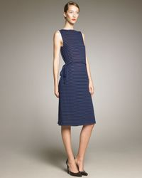 Jil Sander | Blue V Front/back Wrap Dress | Lyst