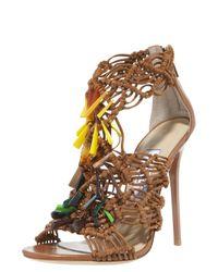 Jimmy Choo | Brown Iris Sandal | Lyst