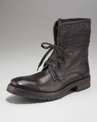 John Varvatos - Black Tahoe Felt Work Boot for Men - Lyst