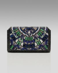 Judith Leiber | Multicolor Houston Semiprecious & Crystal Beaded Clutch | Lyst