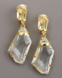 Kenneth Jay Lane | Multicolor Crystal Drop Earrings | Lyst