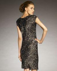 Lanvin - Metallic Sequin-print Cowl-neck Dress - Lyst