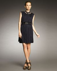 Lanvin - Blue Fringe Dress - Lyst