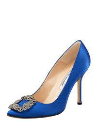 Manolo Blahnik | Something Blue Satin Pump | Lyst