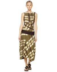 Michael Kors | Green Safari Striped Gauze Dress | Lyst