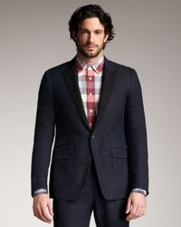 Rag & Bone - Blue Ellington Contrastlapel Linen Blazer for Men - Lyst