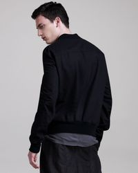 Rick Owens | Black Zip-detail Bomber Jacket for Men | Lyst
