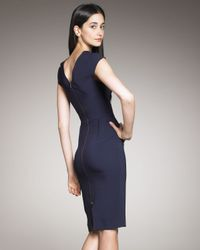 Roland Mouret - Blue Brownlow V-back Dress, Navy - Lyst