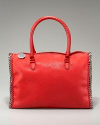 Stella McCartney | Red Chain-trim Doctor Bag | Lyst