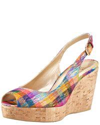 Stuart Weitzman - Multicolor Colorful Wedge Sandal - Lyst