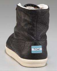 TOMS - Black Garrison Faux-shearling Chukka for Men - Lyst