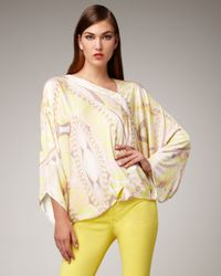 Emilio Pucci | Yellow Light-print Poncho Top | Lyst