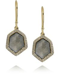 Ippolita - Metallic Rock Candy 18karat Gold Labradorite and Diamond Earrings - Lyst