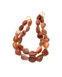Kenneth Jay Lane - Brown Layered Agate Necklace - Lyst