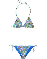 Matthew Williamson | Blue Geometricprint Triangle Bikini | Lyst