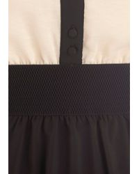 ModCloth   Black Think Contrast Dress   Lyst