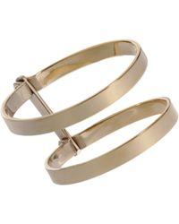 A.L.C. - Metallic Brass Double Bondage Cuff - Lyst
