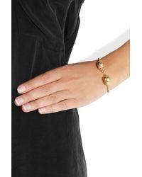 Alexander McQueen | Gold Swarovski Crystal Doubleskull Bracelet | Lyst