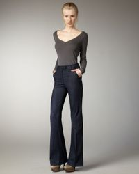 Current/Elliott | Blue Neat Meriweather High-rise Trousers | Lyst