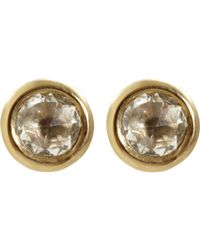 Eva Fehren - Yellow White Diamond Rose Cut Stud Earrings - Lyst