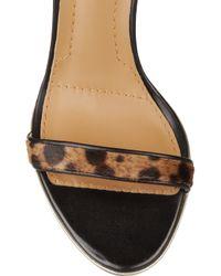 Givenchy | Animalprint Calf Hair Sandals | Lyst