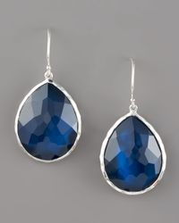 Ippolita | Blue Teardrop Earrings, Midnight Quartz | Lyst