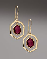 Ippolita | Yellow Framed Garnet Drop Earrings | Lyst