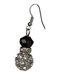 Mikey - Black Crystal Ball Sw Bead Earrings - Lyst