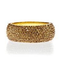 Mikey | Metallic Wide Full Crystal Bracelet | Lyst