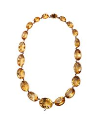 Olivia Collings - Orange Citrine Large Riviere Necklace - Lyst