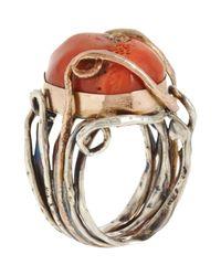 Sandra Dini | Metallic Coral Diamond Ring | Lyst