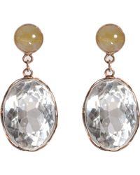 Sandra Dini - Metallic Rock Crystal Rutilated Quartz Earrings - Lyst