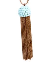 Shourouk - Metallic Pompadour Necklace - Lyst