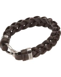 Tod's | Gray Charly Big Braid Bracelet for Men | Lyst