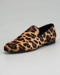 Jimmy Choo   Multicolor Leopard-print Calf-hair Loafer for Men   Lyst