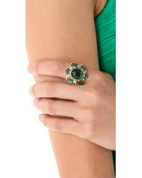 Juicy Couture - Green Jeweled Cocktail Ring - Lyst