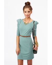 Nasty Gal   Green Ivy Belted Dress   Lyst