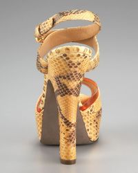 Sergio Rossi - Natural Python Platform Sandal - Lyst
