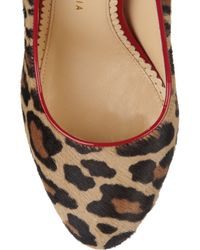 Charlotte Olympia   Animal Polly Calf Hair and Patentleather Pumps   Lyst