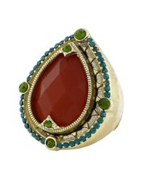 Jessica Simpson   Metallic Gold Tone Moroccan Shine Ring   Lyst