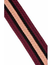 Marni | Purple Leathertrimmed Striped Woven Cotton Belt | Lyst