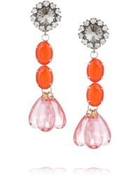 Marni - Metallic Crystal Drop Earrings - Lyst