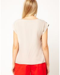 Oasis | White Tribal Placement Tee | Lyst