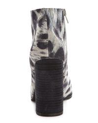 Jeffrey Campbell | Gray Hanger Suede Snow Leopard Print Booties | Lyst