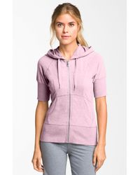 Zella | Pink Supersoft Short Sleeve Hoodie | Lyst