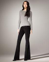 Hudson Jeans - Ferris Mid-rise Flared Jeans, Black - Lyst