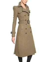 Burberry Prorsum - Natural Herringbone Tweed Coat - Lyst