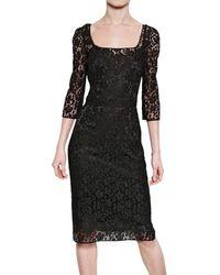 Dolce & Gabbana   Black Cotton Lace Dress   Lyst